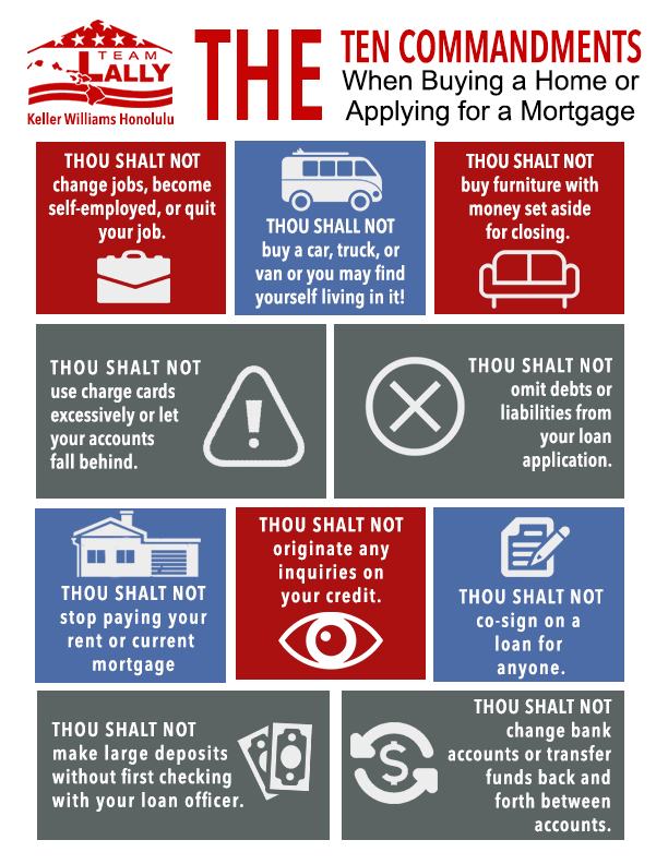 10 Commandments When Buying a Home or Applying for a Mortgage