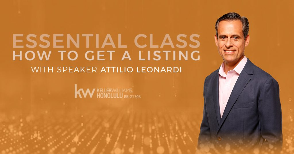 Essential Class - How to Get a Listing