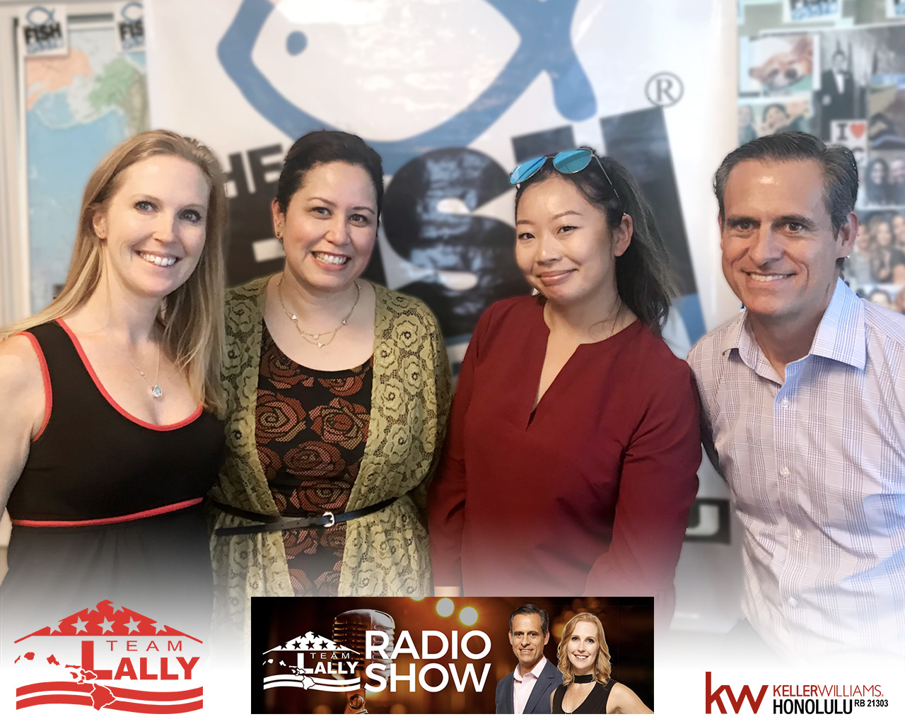 Karwin Sui and Dawn Pasikala on the Team Lally Radio Show